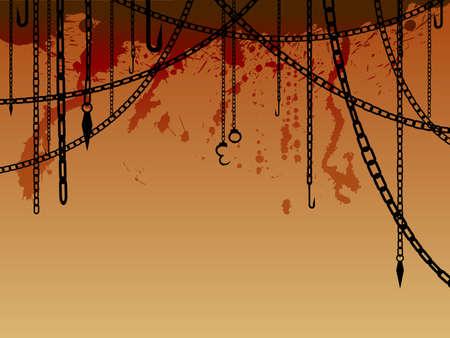 ligotage: Arri�re-plan de cha�nes et crochets