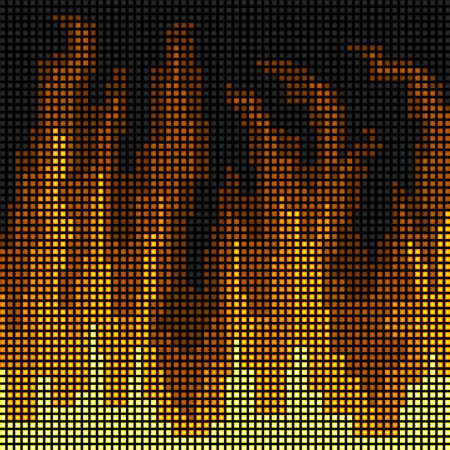 LED fire background Vector