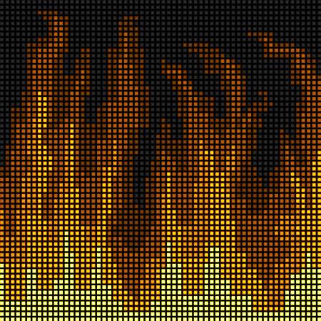 LED fire background Illustration