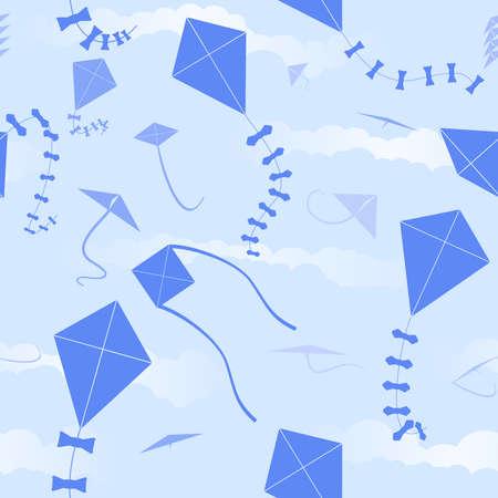 Kite seamless background Vector