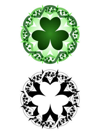 Luck tattoo Ilustracja