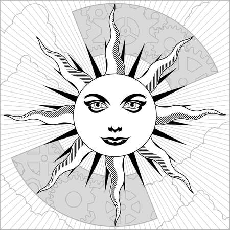Black and white sun