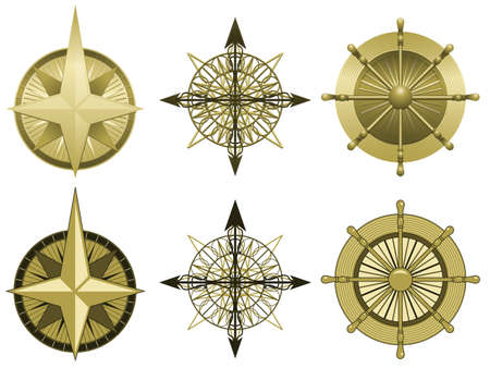 rose illustration: Compass roses