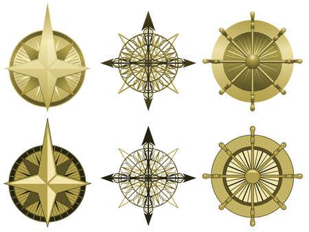 Kompas rozen  Stock Illustratie