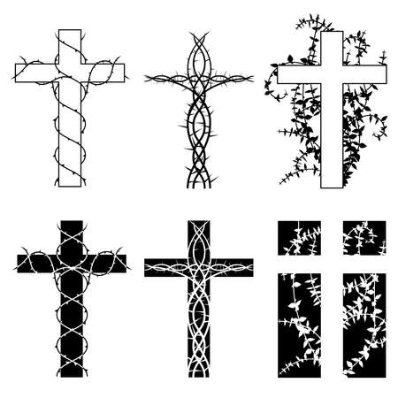 Crosses and thorns Stock Vector - 6413275