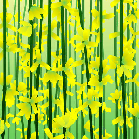 Impressionist Forsythia background