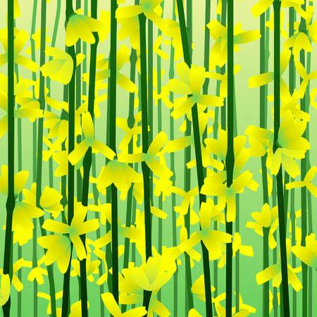 Impressionistische Forsythia achtergrond Stockfoto - 6463941
