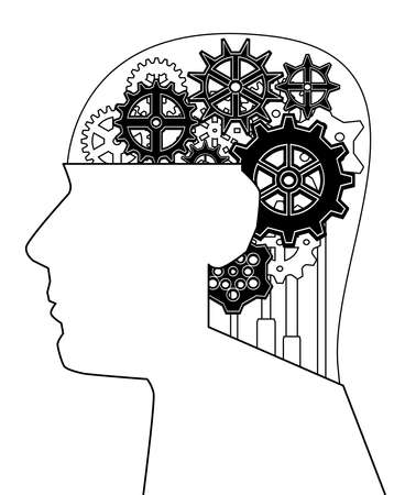 contemplate: Gearhead illustration