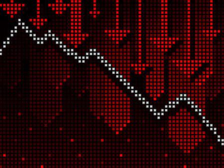 ticker: Ticker business chart going down