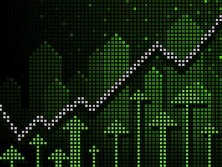 ticker: Ticker business chart going up