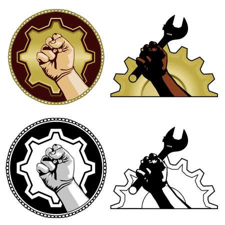 gewerkschaft: Symbole der Arbeit