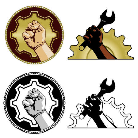 gears: Symbols of labor Illustration