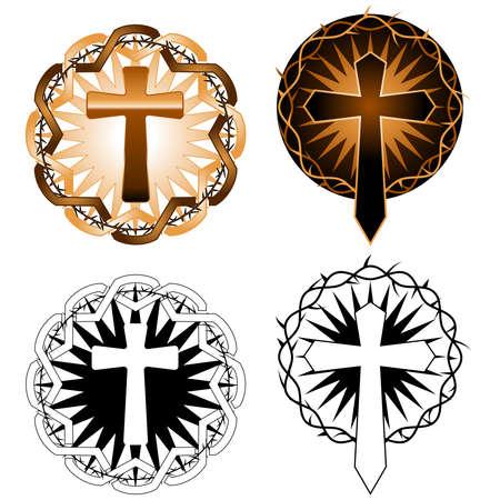 Cross-ontwerpen Stock Illustratie