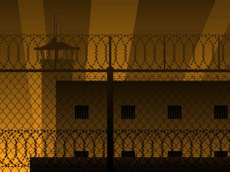 razor wire: Prison background