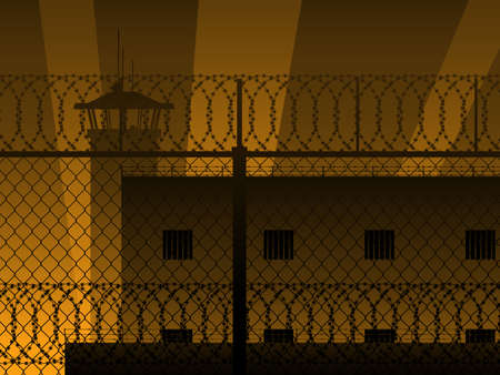 security bar: Prison background
