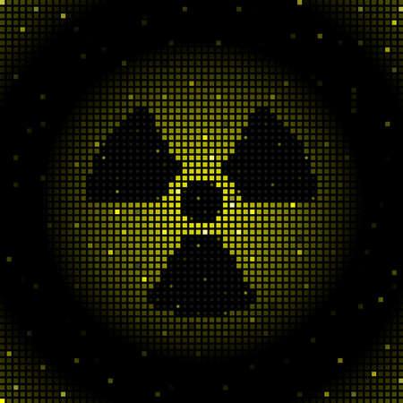 radioactive warning symbol: Radiation symbol background