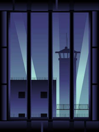 Gevangenis achtergrond, verticaal