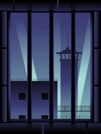 Prison background, vertical Vector