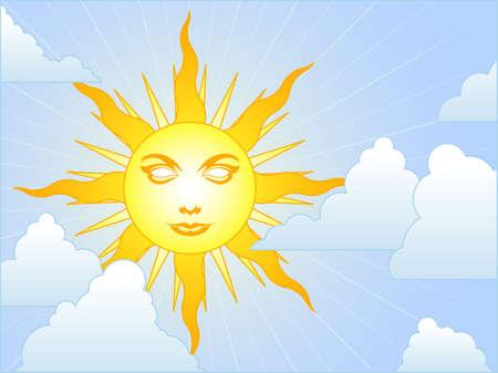 정오: Sunny sky