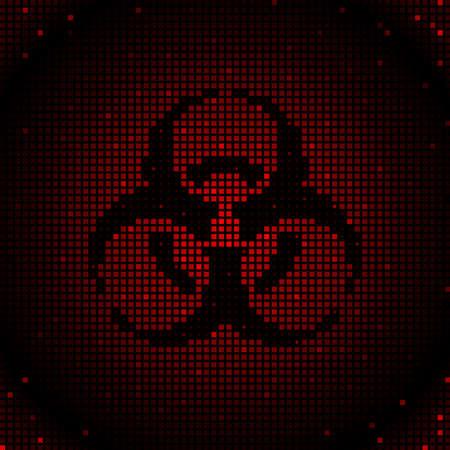 Red biohazard background Stock Vector - 6560319