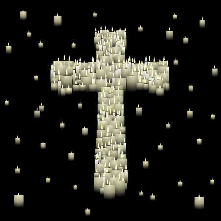 Candle cross Stock Vector - 6571891