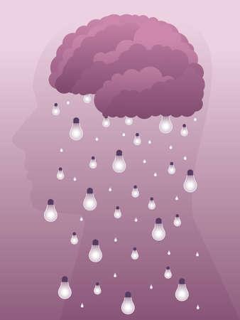 Brainstorm illustration Ilustrace