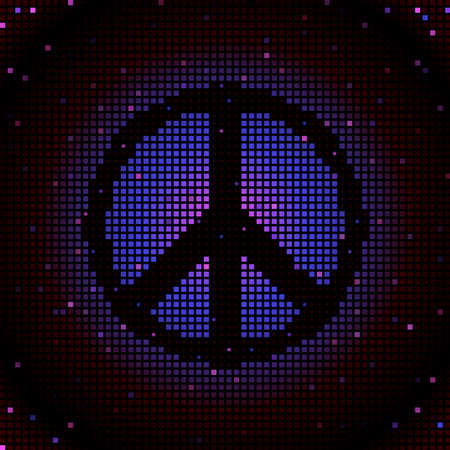 sign: Peace sign mosaic Illustration