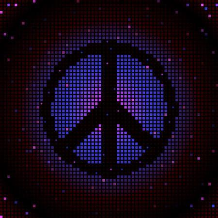 Peace sign mosaic 向量圖像