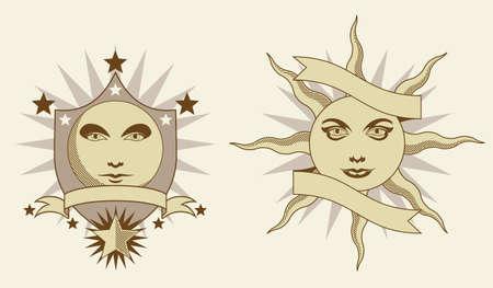 crescent: Celestial banners  Illustration