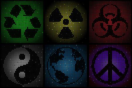 mosaic symbols Vector