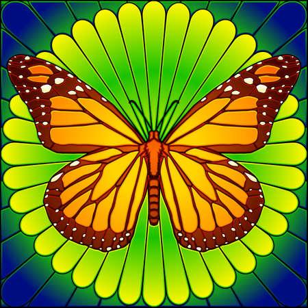 Gebrandschilderd glas monarch