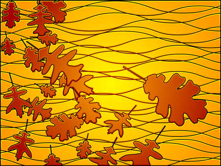 stained glass fall Ilustrace