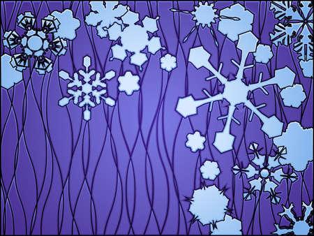 ステンド グラスの冬  イラスト・ベクター素材