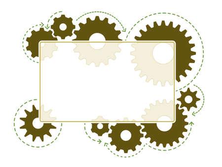 Gear frame Иллюстрация
