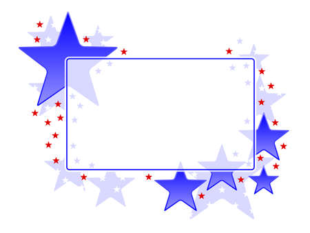 愛国心: 愛国的なフレーム  イラスト・ベクター素材