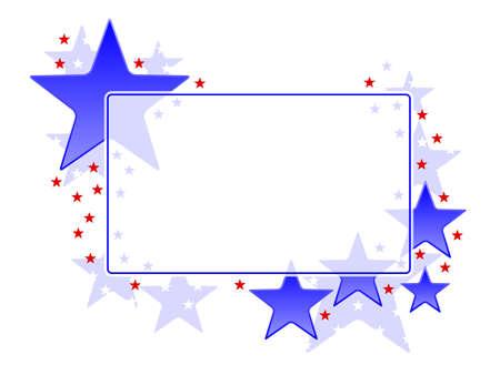 star background: Patriotic frame