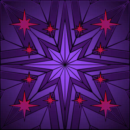 stained glass: Stained glass star