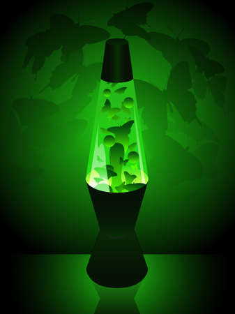 Butterfly lavalamp Vector