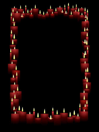 Vertical candle frame Vector