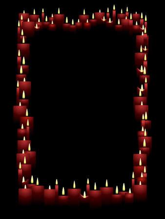 Vertical candle frame Ilustração