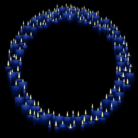 Round candle frame Ilustração