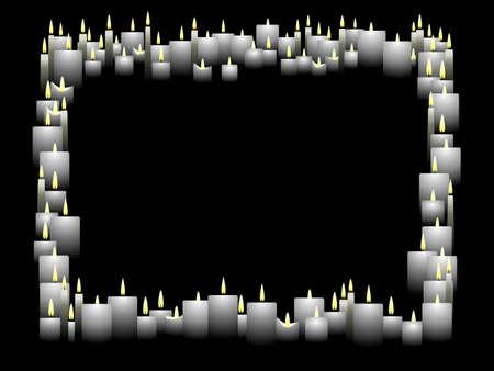 Horizontale Kerze frame