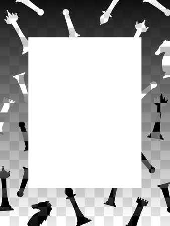 Chess border 向量圖像