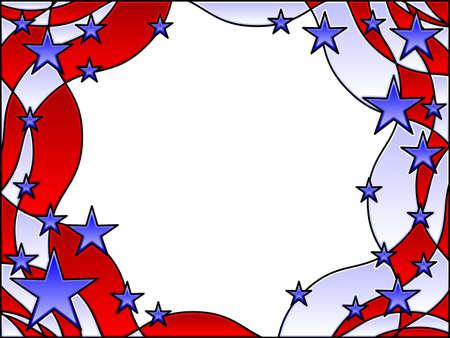 patriotic border: Marco de estrellas y rayas