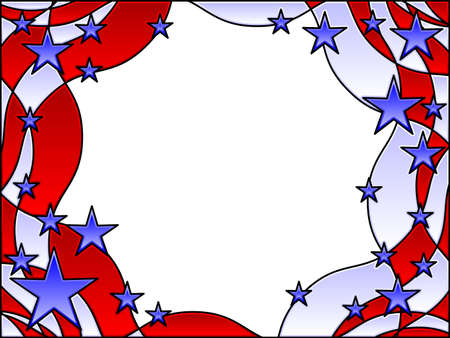 Stars and stripes frame Stock Vector - 6874296
