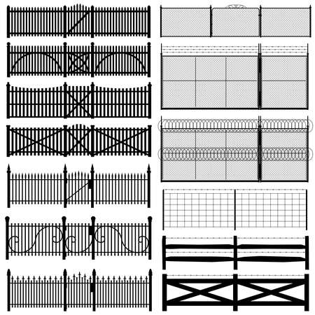 wire fence: Fence collection Illustration