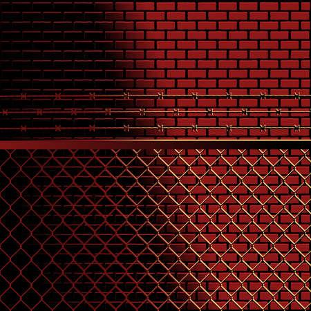 incarceration: Fondo de ladrillos y valla