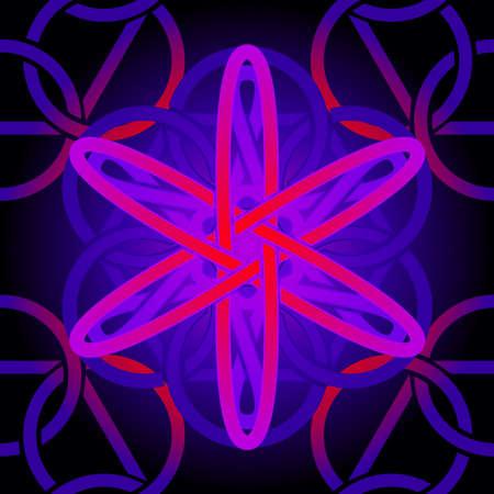 Seamless purple celtic tile  Illustration