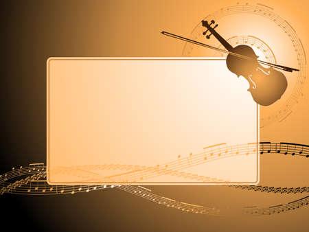 Cornice musicale violino  Archivio Fotografico - 6981915