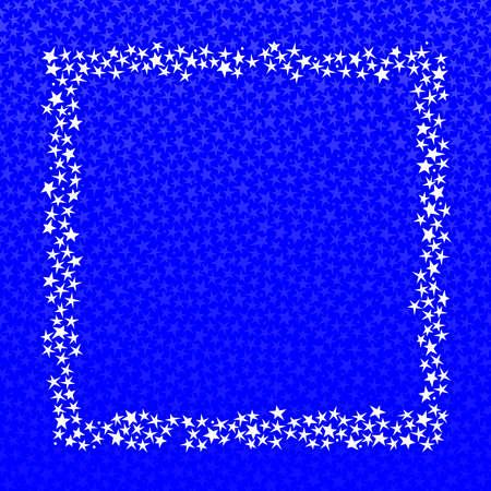 Square star frame 向量圖像